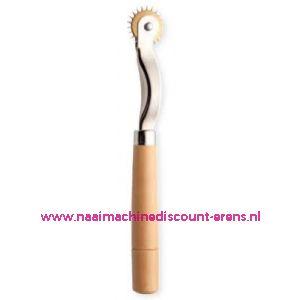 002179 / Radeerwieltje houten handgreep, extra spits art. nr. 611277