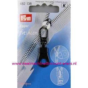 002279 / Modische Schuiver Rond Zwart prym art. nr. 482138