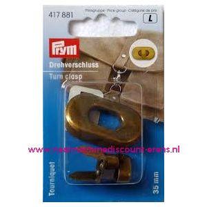 002294 / Draaisluiting voor op tassen Brons kleur prym art.nr. 417881