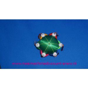 002304 / Klein Chinees Speldenkussen 6 Poppetjes