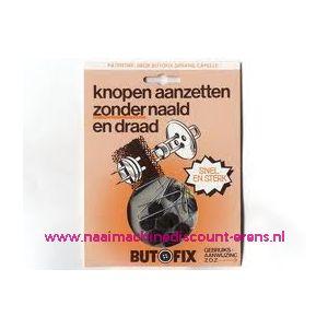 002308 / Butofix ZWART knopen aanzetten zonder naald en draad
