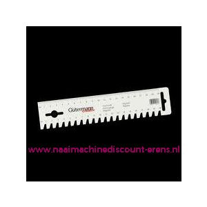 002323 / Gutermann stekenteller en 20 Cm liniaal