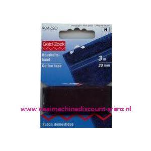 002402 / Huishoudband 20 Mm Zwart Goldzack art. nr. 904620