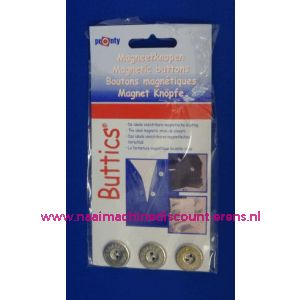 002430 / Magneetknopen Zilver Pronty