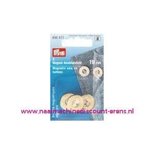 002432 / Magneetknopen Goud prym art. nr. 416471