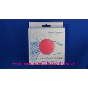 002660 / Magneetspeldenkussen 10 x 10 Cm Rose