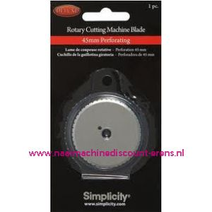 002932 / Simplicity Rotary Cutting Perforerend Mes Recht