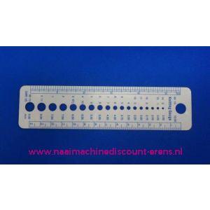Naalddiktemeter voor breinaalden Discount / 002999