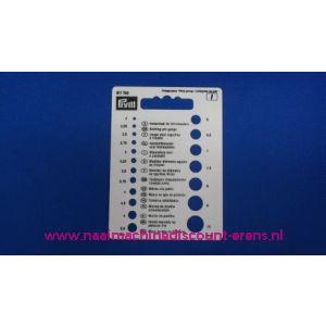 Naalddiktemeter voor breinaalden prym art. nr. 611740 / 003001