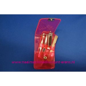 """003255 / Manicure set Luxe 4-delig """"rose"""""""