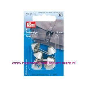 003549 / Bodemdopjes voor op tassen kleur zilver prym art. nr. 615900