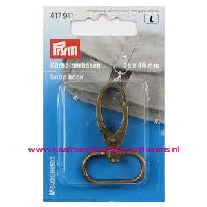 003570 / Karabijnhaak Brons kleur 25 x 45 MM prym art. nr. 417911