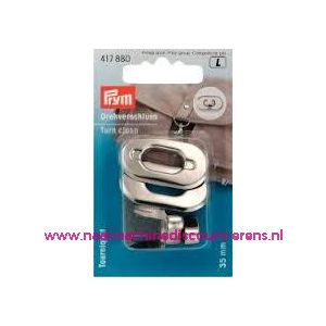 003585 / Draaisluiting voor op tassen Zilver kleur prym art.nr.417880