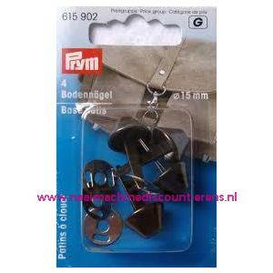 006029 / Bodemdopjes voor op tassen kleur donker zilver prym 615902