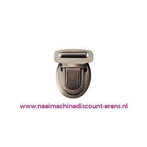 006031 / TT-slot donker zilver/zwart kleur metaal prym art. 417976