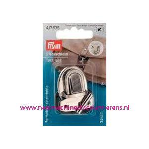 006032 / TT-slot zilver kleur metaal prym art. nr. 417975