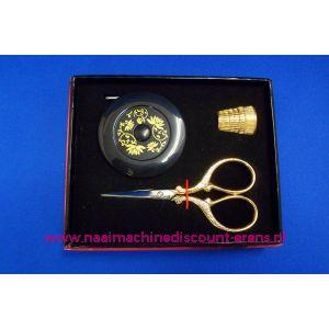 006121 / Cadeauset borduurschaartje verguld