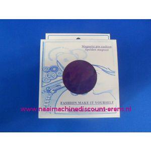 009399 / Magneetspeldenkussen 10 x 10 Cm Paars