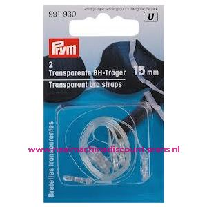 009514 / BH-Schouderband Transparant 15 Mm prym art. nr. 991930