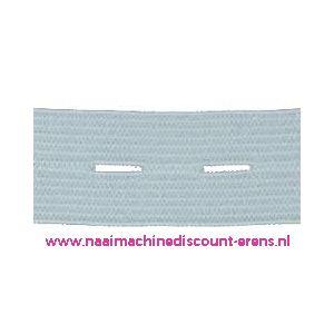 009942 / Knoopsgaten elastiek Wit