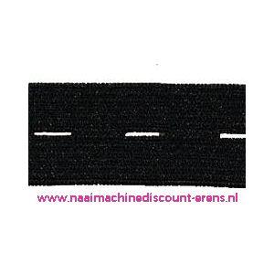 009944 / Knoopsgaten elastiek Zwart