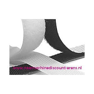 009952 / Klittenband 2 Cm kleur wit voor te plakken