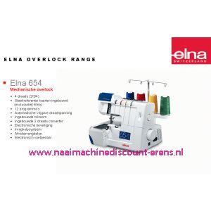 Elna 654 lockmachine + GRATIS AFVALZAK + 5 Jaar garantie / 000996