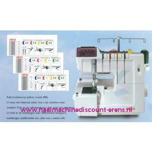Elna 686 lockmachine + GRATIS AFVALZAK + 5 Jaar garantie / 000999