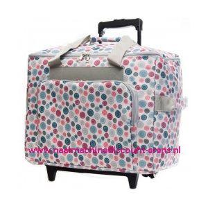 Mobiele koffer knoopdessin vrije arm naaimachine / lockmachine art. nr. 4680-3400018